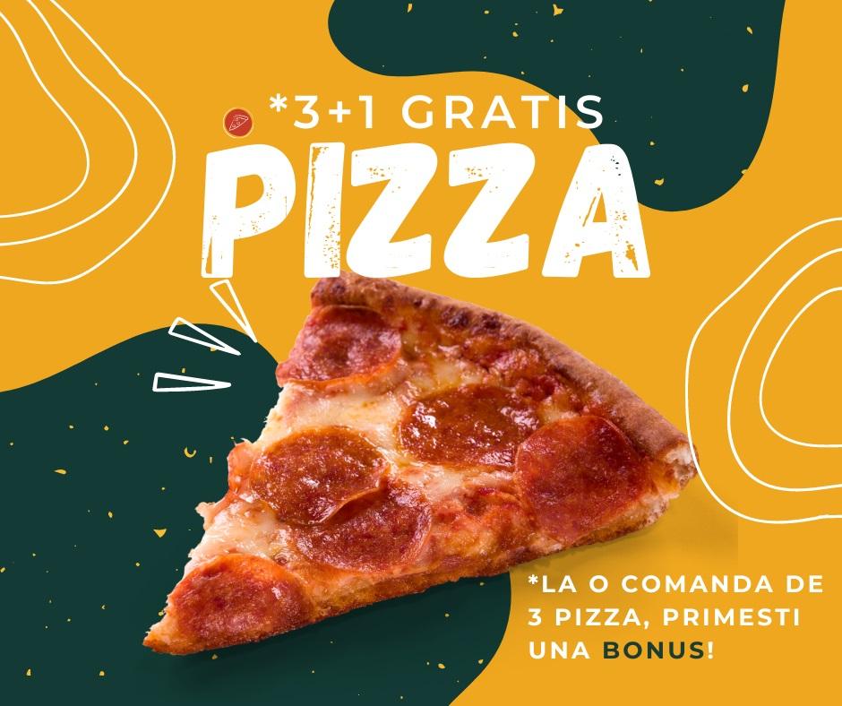 Oferta 3+1 Pizza